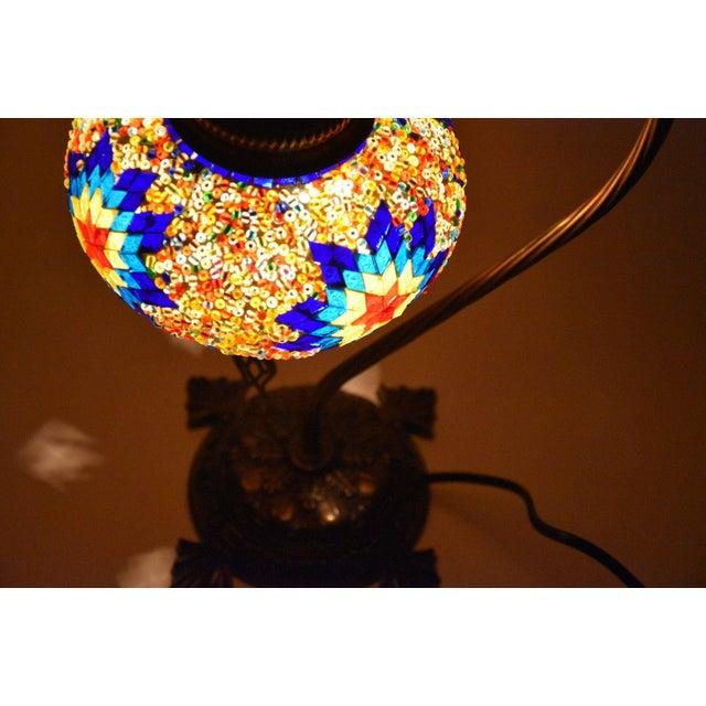 Turkish Handmade Mosaic Lamp - Image 6 of 7