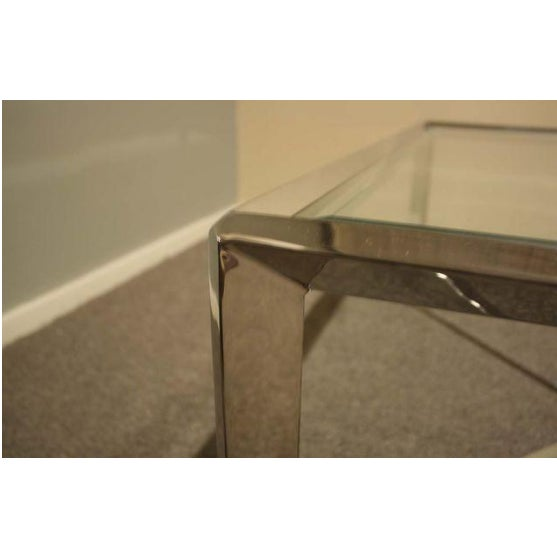 Chrome & Glass Cocktail Table - Image 4 of 7