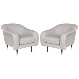 Brazilian Mid-Century Modern Re-Edition Club Chairs by Joaquim Tenreiro, a Pair For Sale