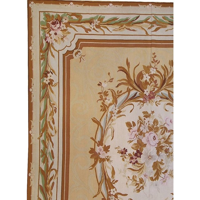 """Pasargad Aubusson Hand Woven Wool Rug - 9' 8"""" x 12' 1"""" - Image 2 of 3"""