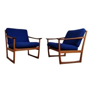 Peter Hvidt & Orla Mølgaard-Nielsen Teak Lounge Chairs For Sale