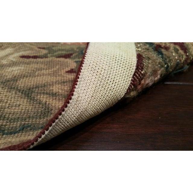 English Traditional Needlepoint Handmade Rug - 9x12 For Sale - Image 3 of 3
