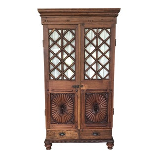 Spanish Colonial Wood Cabinet For Sale