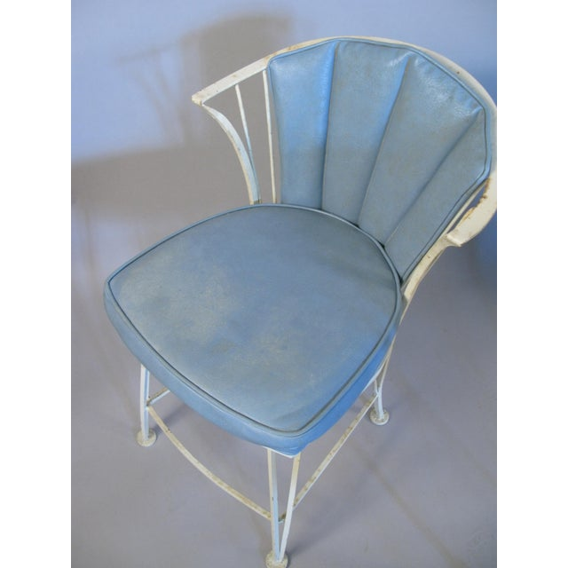 White 1950s Vintage Woodard Pinecrest Chairs with Original Cushions - Set of 4 For Sale - Image 8 of 10