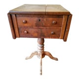 Image of American Empire Mahogany Drop-Leaf Side Table For Sale