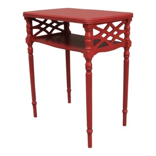 Vintage Small Traditional Coral Side Table For Sale