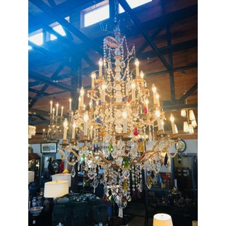 Late 20th Century Louis XIV Style Multicolored Crystal Chandelier by Schonbek Preview