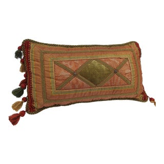 20th Century Italian/French/Mediterranean Down Lumbar Pillow For Sale