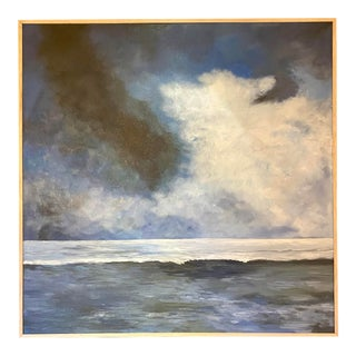 Contemporary Seascape Acrylic Painting, Framed For Sale