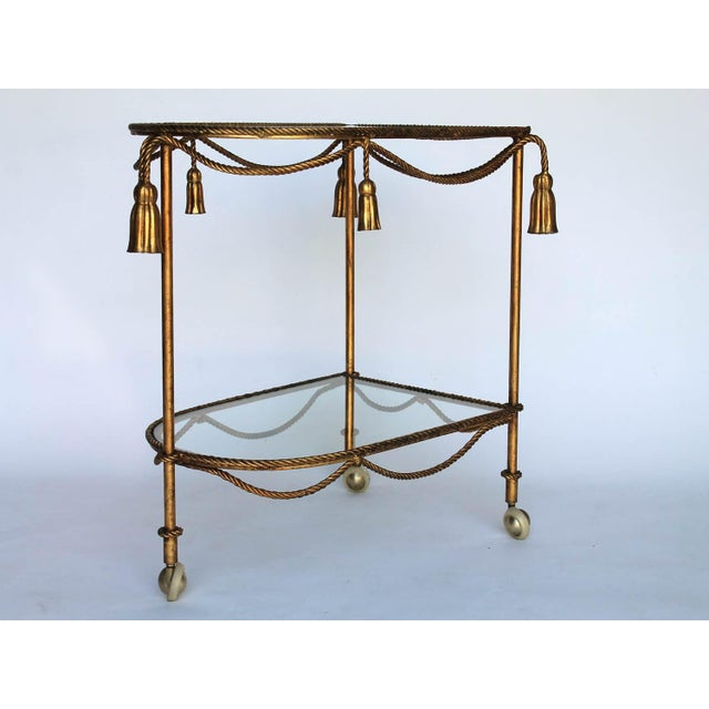 Rope & Tassel Bar Cart For Sale In Milwaukee - Image 6 of 6
