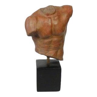 Vintage Modern Male Torso Sculpture For Sale