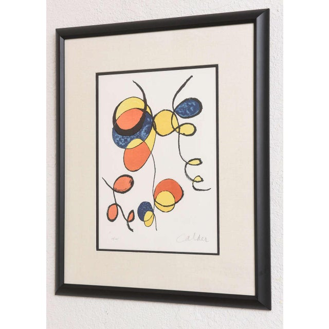 20th Century Pencil Signed Color Lithograph by Alexander Calder For Sale In West Palm - Image 6 of 9