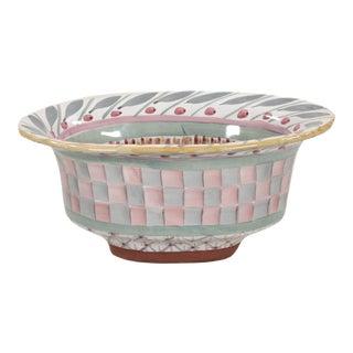 "MacKenzie-Childs Large Terra Cotta Serving Bowl in ""Brighton Pavilion"" For Sale"