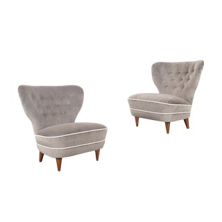 Vintage Wingback Lounge Chairs For Sale