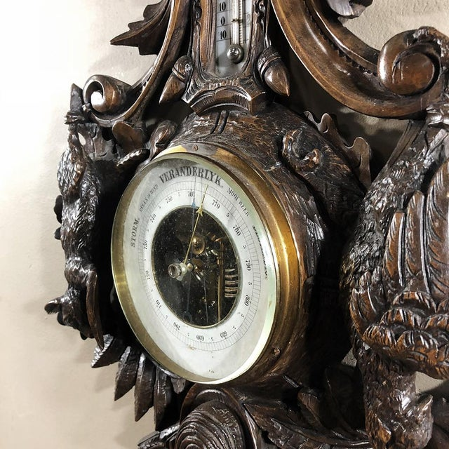 19th Century Black Forest Barometer - Thermometer For Sale - Image 9 of 12