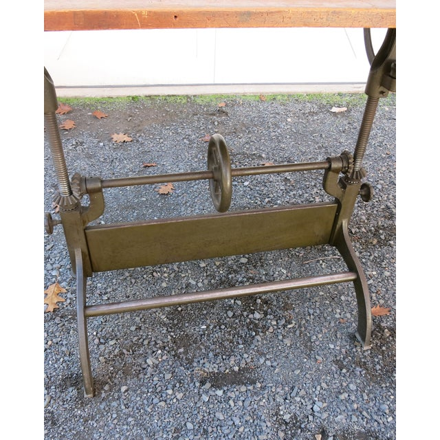 Iron 20th Century Industrial Hamilton Drafting Table For Sale - Image 7 of 10