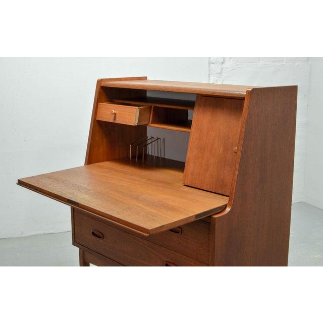 Mid-Century Scandinavian Design Teak Writing Desk, Scandinavia, 1960s For Sale - Image 6 of 11
