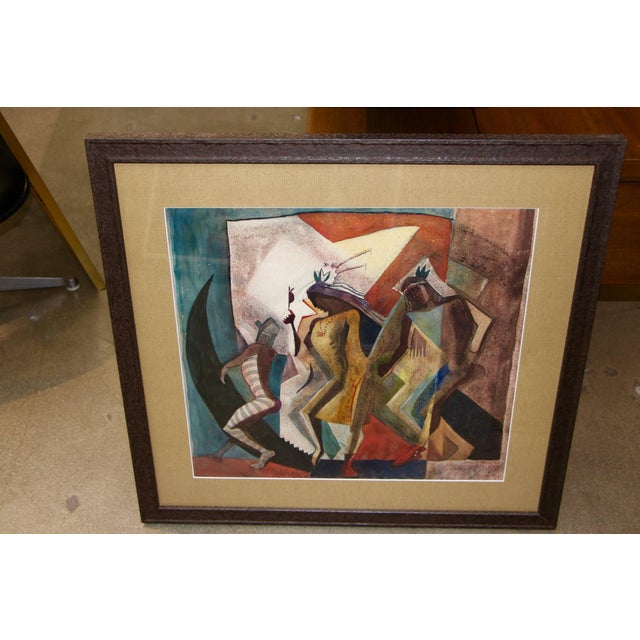 "Lloyd Moylan ""Dancers"" Painting, 1930s-1940s For Sale In Palm Springs - Image 6 of 6"