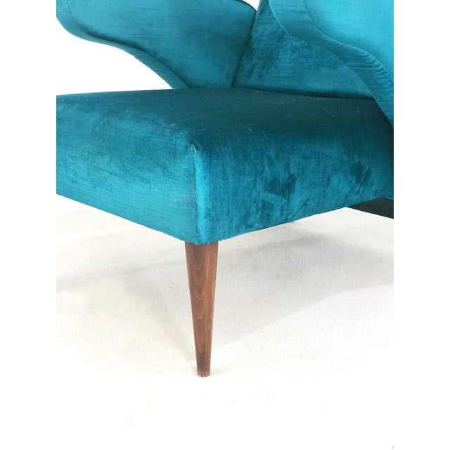 Melchiorre Bega Pair of 50s Armchairs Attributed to Melchiorre Bega For Sale - Image 4 of 9