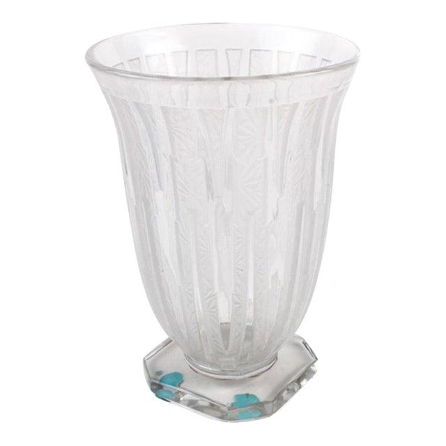 1930s Vintage Verlys Art Deco Footed Vase For Sale