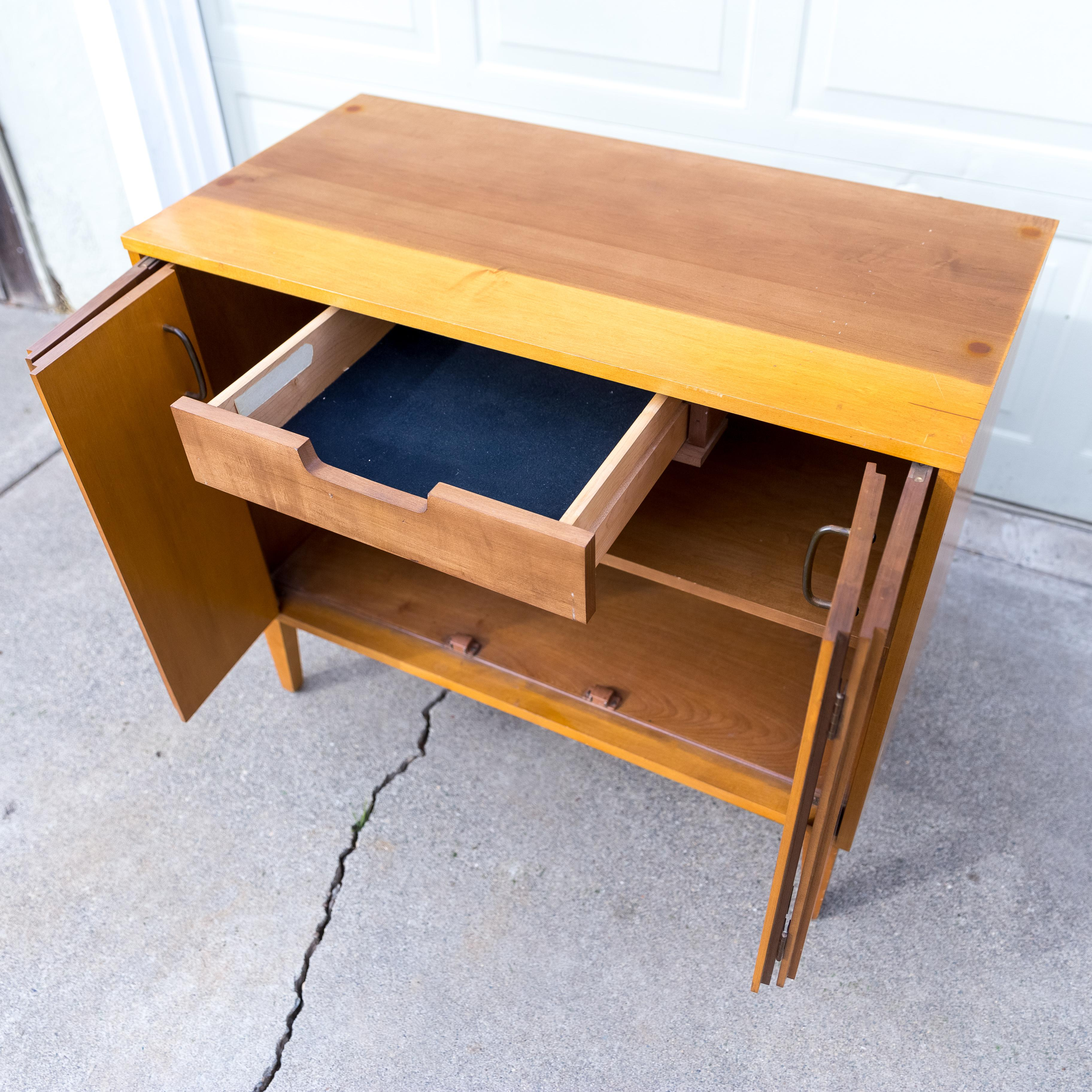 Murray Furniture Co. Milo Baughman For Murray Furniture Co. Solid Maple  Cabinet And Hutch