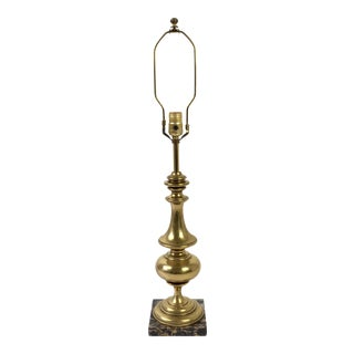Stiffel Brass & Marble Table Lamp For Sale