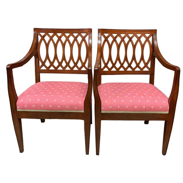 1990s Vintage Baker Williamsburg Collection Armchairs - A Pair For Sale - Image 12 of 12
