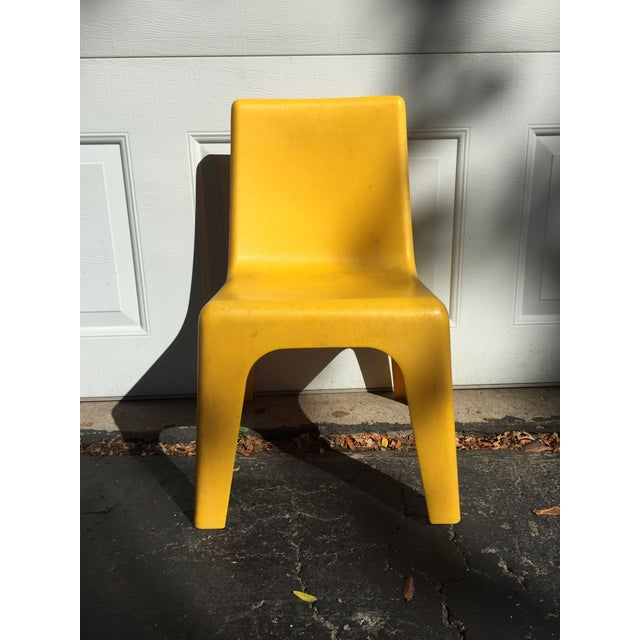 Modern Yellow Child's Chair - Image 6 of 8