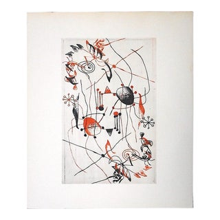 Vintage Abstract Lithograph, Joan Miro For Sale