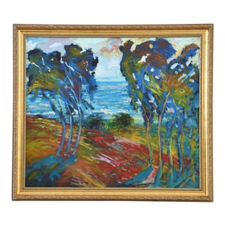 "California Original Juan ""Pepe"" Guzman Seascape Landscape Painting For Sale"