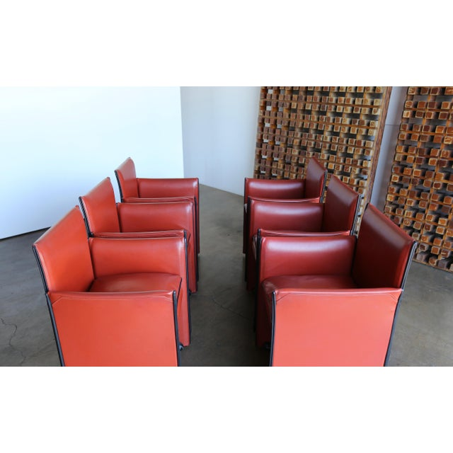 Late 20th Century Mario Bellini 'Break' Armchairs - Set of 6 For Sale - Image 11 of 13