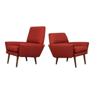 Set of Kurt Ostervig Danish Lounge Chairs For Sale