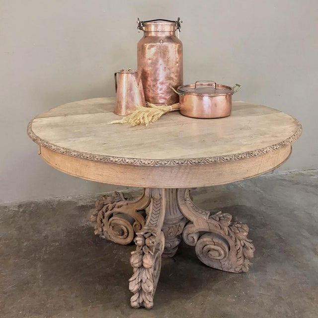 19th Century French Renaissance Stripped Center Table For Sale - Image 4 of 13