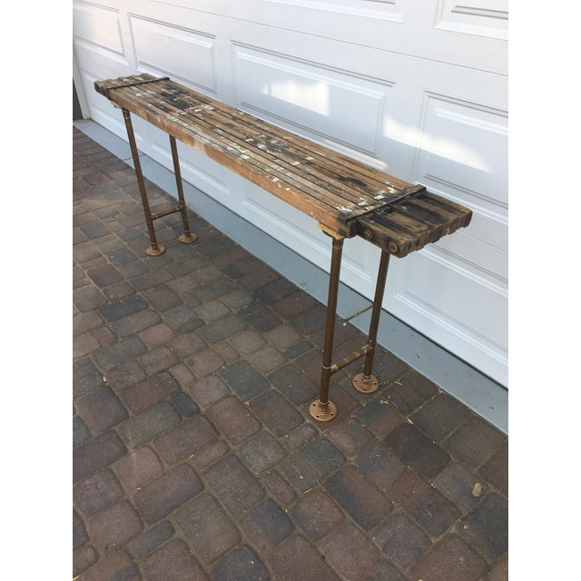 This unique one of a kind sofa/accent/occasional/entry table is sure to add a special touch to your industrial or rustic...