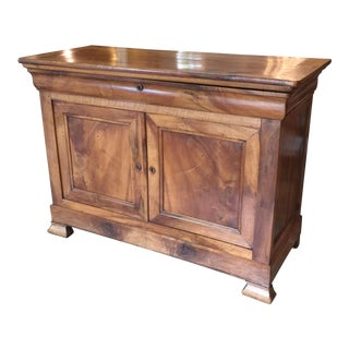 Antique Louis Philippe Burled Walnut Buffet For Sale