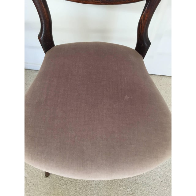 Fabric Pair of 19th Century Victorian Walnut Chairs For Sale - Image 7 of 11