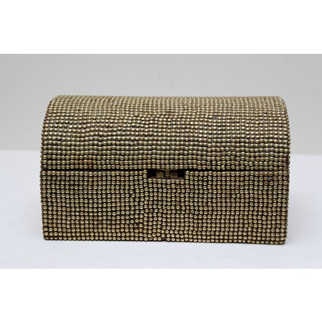 Brass Studded Tabletop Trunk - Image 3 of 9
