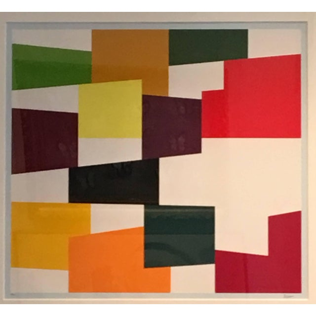 Cream Yaacov Agam Untitled C.1970 For Sale - Image 8 of 8