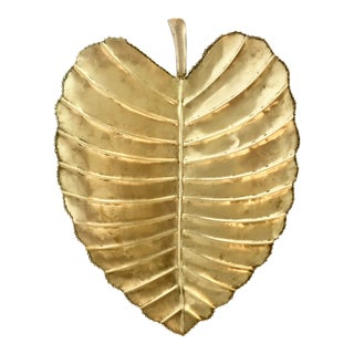 Large Tropical Brass Leaf/Centerpiece