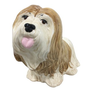1960s Figurative Ceramic Dog Figurine