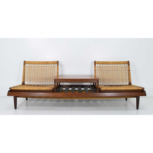 1950s Vintage Modular Bench Model 161 Designed by Hans Olsen for Bramin For Sale - Image 13 of 13
