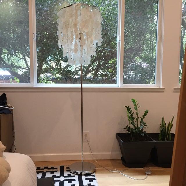 West Elm Standing Capiz Lamp - Image 5 of 5