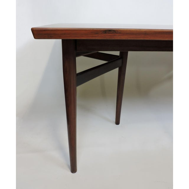Arne Vodder Expandable Danish Modern Rosewood Dining Conference Table Model 201 For Sale - Image 10 of 13