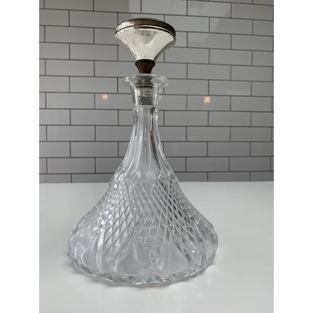 Mid 20th Century Vintage Hand Cut Crystal Decanter For Sale - Image 5 of 5