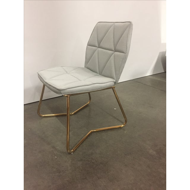 Tally Gold Chrome Dining Chair For Sale - Image 4 of 5