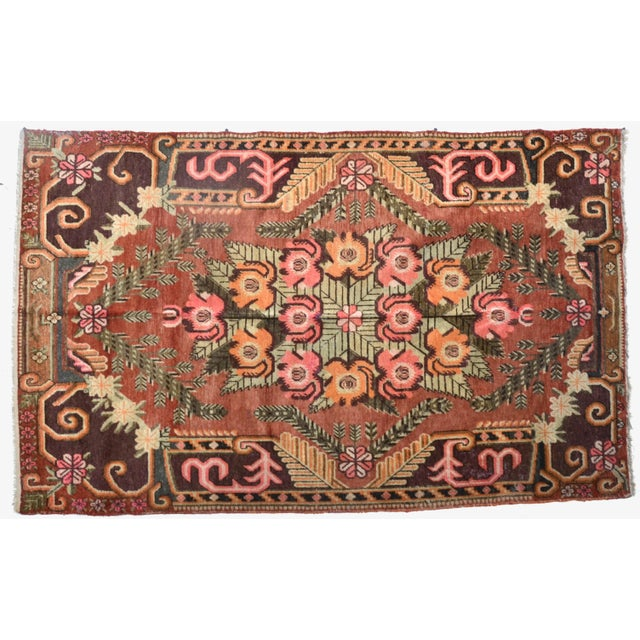 An elegant Khotan pile rug, hand-knotted wool from east Turkestan, a true beauty, from a Beverly Hills estate. Antique...