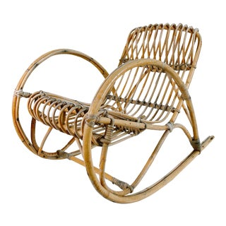 1960s Vintage Franco Albini Toddler Rocking Chair For Sale