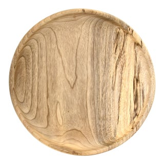 Round Hand Turned Myrtle Wood Tray For Sale