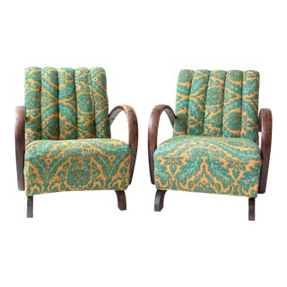 Pair of 1940s Jindrich Halabala Chairs For Sale