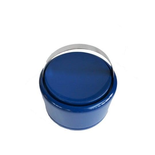 Vintage Danish Modern Cobalt Blue Ice Bucket For Sale - Image 9 of 9